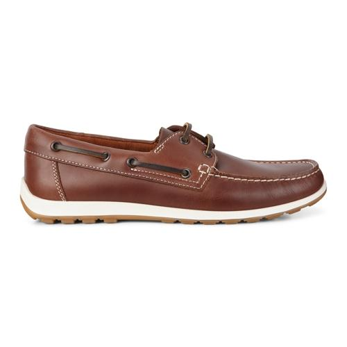 Ecco Boat Shoes - 660414 - Tan