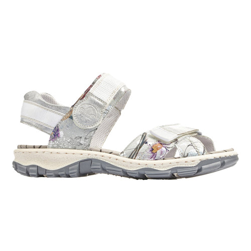 Rieker Walking Sandal - 68853-90 - White Multi