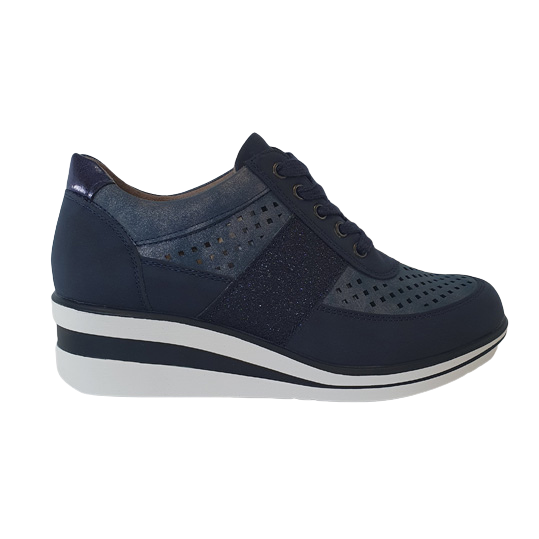 Redz Wedge Trainers - 6G2060 - Navy