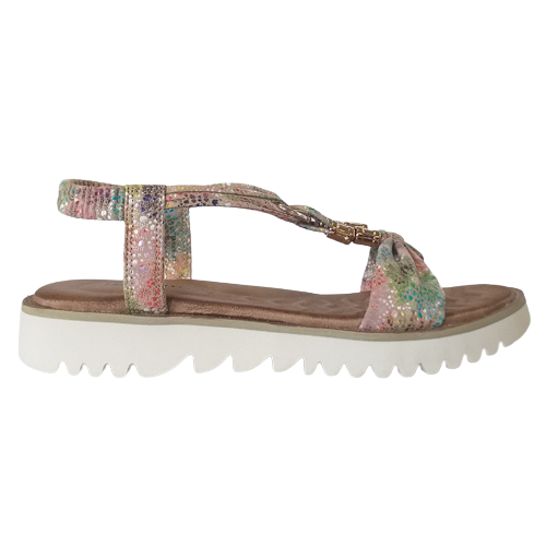 Heavenly Feet Low Wedge Sandals- Lilly - Taupe