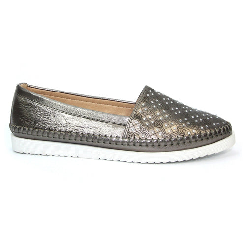 Lunar Flat Shoe - Ashby - Pewter