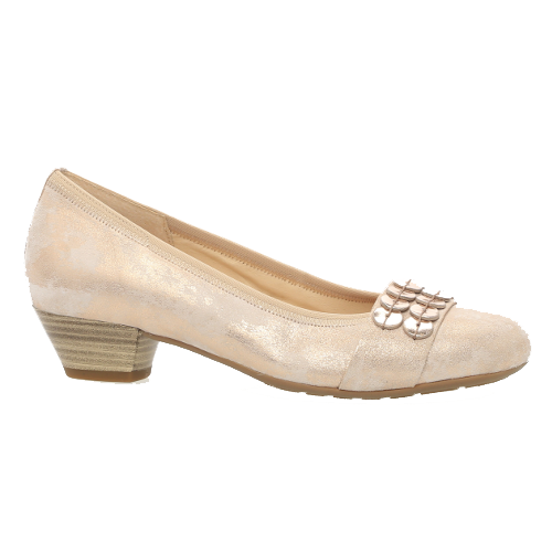 Gabor Low Heeled Pumps - 86.133 - Rose Gold