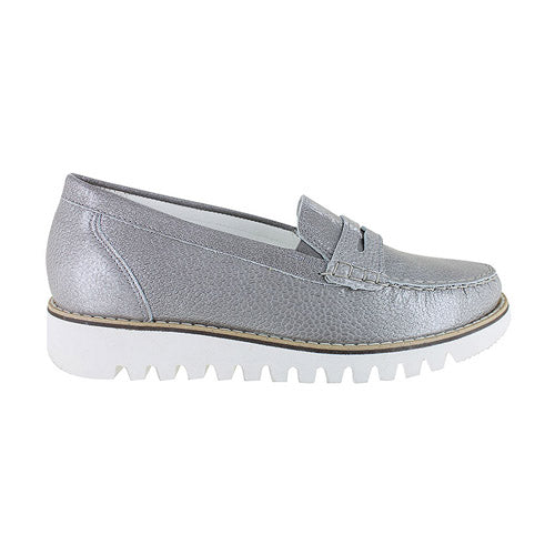 Waldlaufer Wide Fit Loafers  - 926504 - Silver