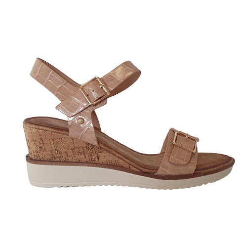Zanni  Wedge Sandals - Aswan - Pink