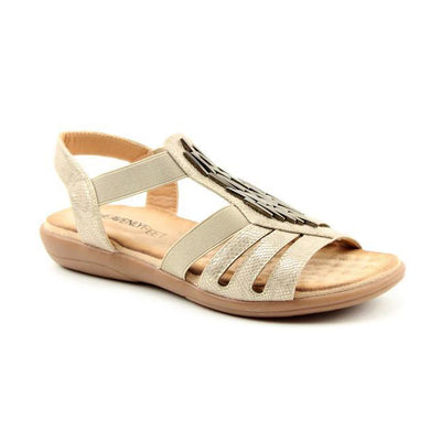 Heavenly Feet Flat Sandal - Agneta - Stone