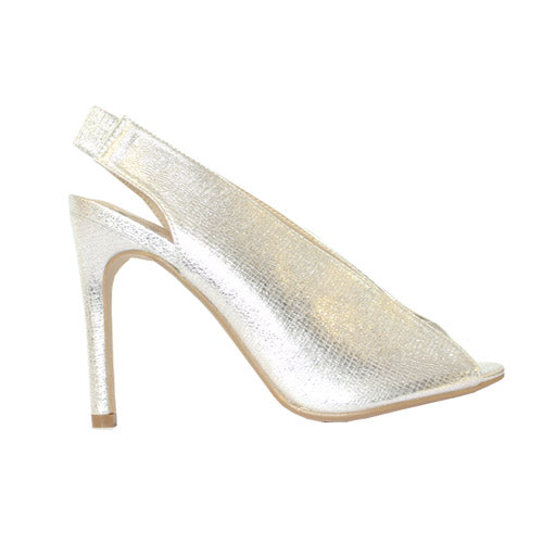 Millie & Co Heeled Sandal - Caroline - Silver