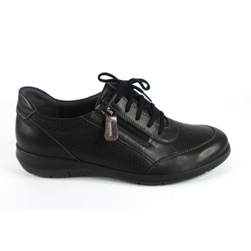 Suave Wide Fit Walking Shoes  - Emma  - Black