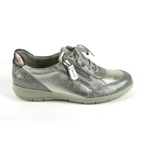 Suave Wide Fit Walking Shoes  - Emma - Silver