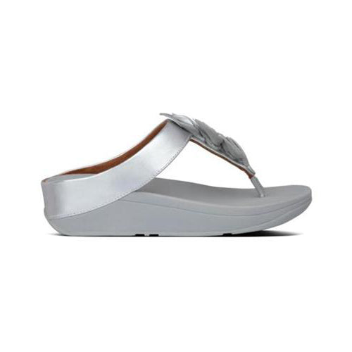 FitFlop Sandals - Fino Leaf - Silver Toe Post