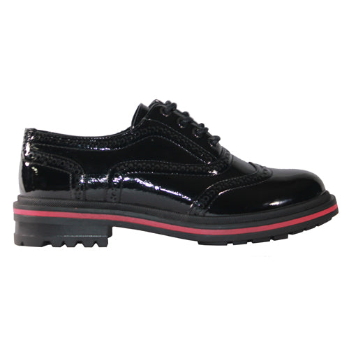 Redz Ladies Brogues  - 932 - Black Patent