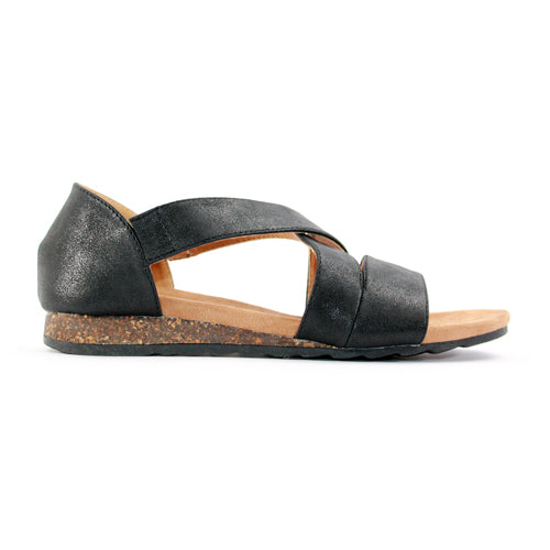 Heavenly Feet Flat Sandal  - Estelle - Black