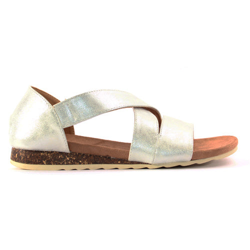 Heavenly Feet Flat Sandal  - Estelle - Silver