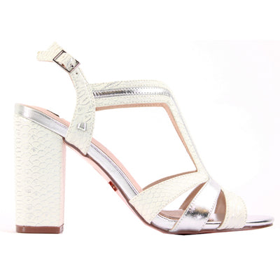 Una Healy Dressy Block Heel Sandals - Girls Lie Too - Silver