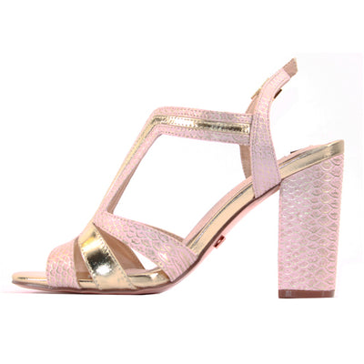 Una Healy Dressy Block Heels  - Girls Lie Too -  Rose Gold