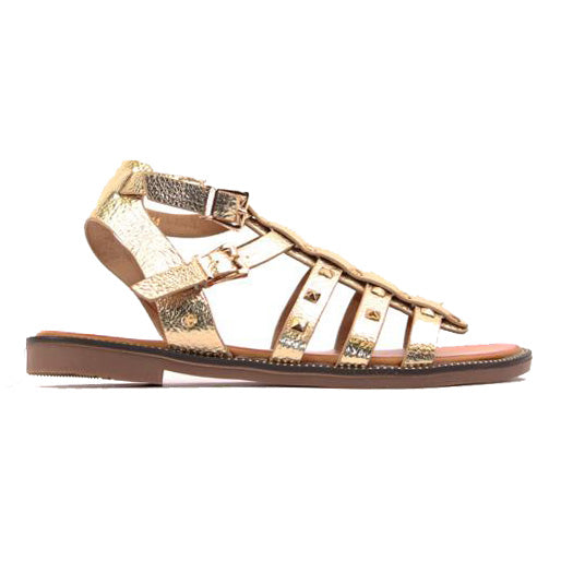Escape Ladies Flat Sandal - Boone - Gold