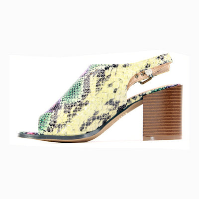 Escape  Block Heeled Sandals - Meredith - Multi Snake