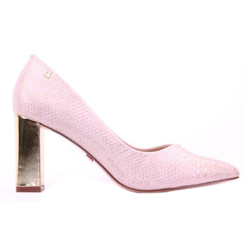 Una Healy Dressy Block Heels - Five Minutes - Rose Gold
