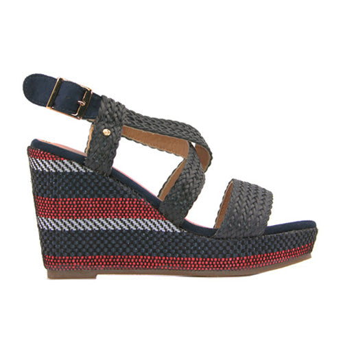 Escape Ladies Wedge Sandal - Rocheport - Navy
