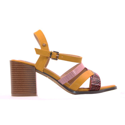 Escape Ladies Block Heel Sandal - Eureka - Yellow