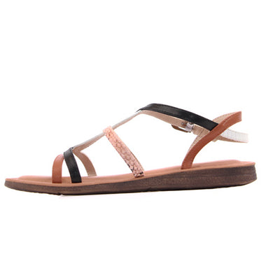 Una Healy Ladies Flat Sandal - Need You Now - Black/White