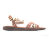 Una Healy Ladies Flat Sandal - Hickory Wind - Gold