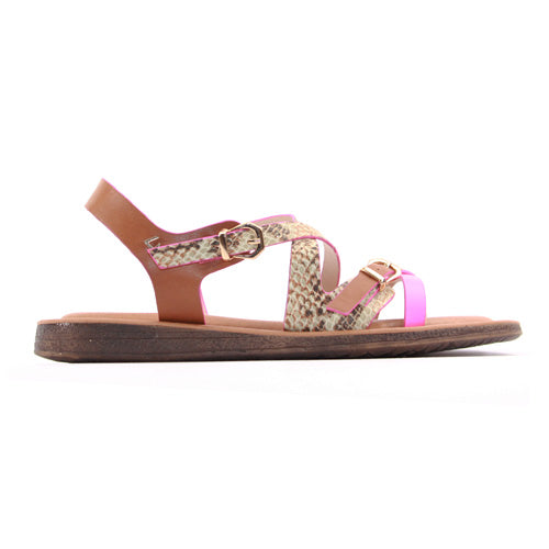 Una Healy Ladies Flat Sandal - Closer to you - Pink
