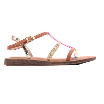 Una Healy Ladies Flat Sandal - Need you Now - Pink