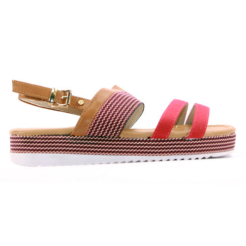Escape Ladies Wedge Sandal - Omaha - Red