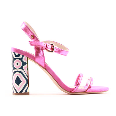 Amy Huberman Block Heeled Sandals - The Lady Vanishes - Pink