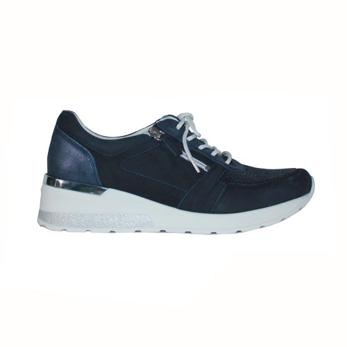 Waldlaufer Wide Fit Trainers - 939HO1 - Navy