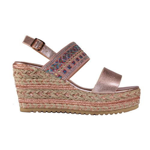 Redz Wedge Sandal - 322 - Rose Gold