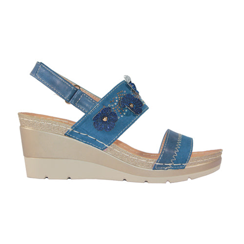 Redz Wedge Sandal - 9Q022 - Navy