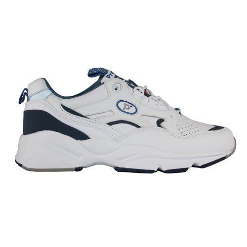 Propet Laced Trainers  - W2034 - White/ Navy Shoe