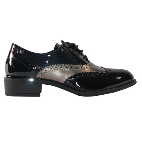 Patrizo Como Flat Shoe - Scanna - Black