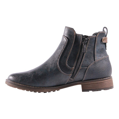 Mustang Ladies Ankle Boots - 1265501 - Navy
