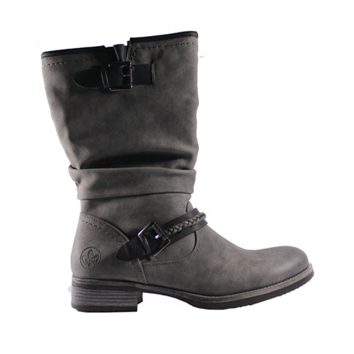 Rieker Knee Boot - 98860 - Grey