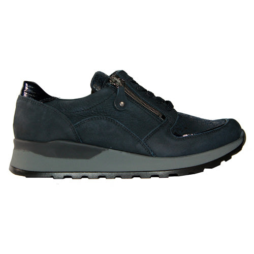 Waldlaufer Wide Fitting Trainer - H64007 - Navy