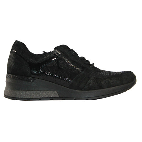 Waldlaufer Wide Fit Trainers - 939H01 - Black