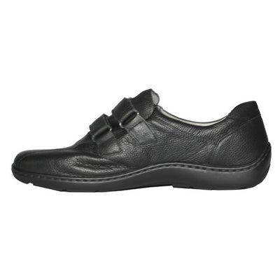 Waldlaufer Wide Fit Walking Shoes - 496301   - Black