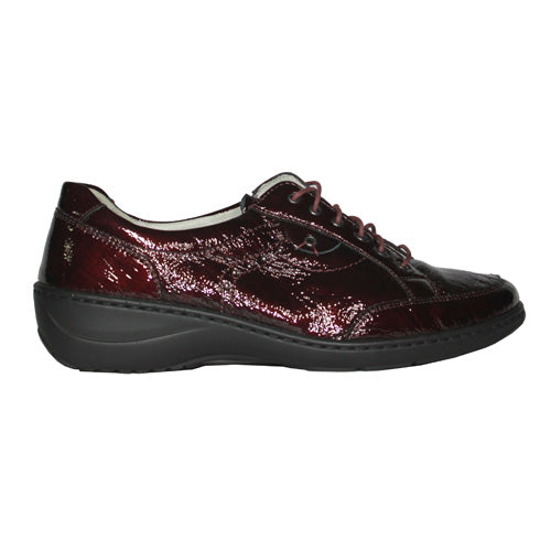 Waldlaufer Wide Fit Walking Shoes - 607014 - Burgundy