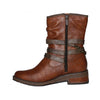 Mustang Ladies Mid Boots- 1293516 - Tan
