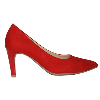 Gabor High Heel Shoe - 41.380 - Red Suede