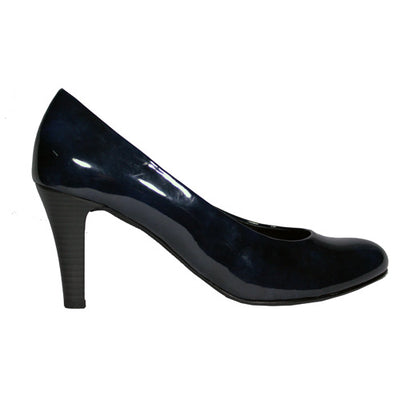 Gabor High Heel Court Shoe - 31.310 - Navy Patent
