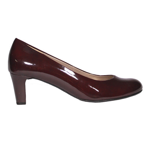 Gabor Low Heel Shoe - 41.400 - Wine Patent