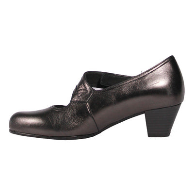 Gabor Velcro Strap Court Shoe - 86.147 - Pewter