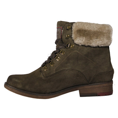Mustang Ladies Ankle Boots - 1295609  - Olive
