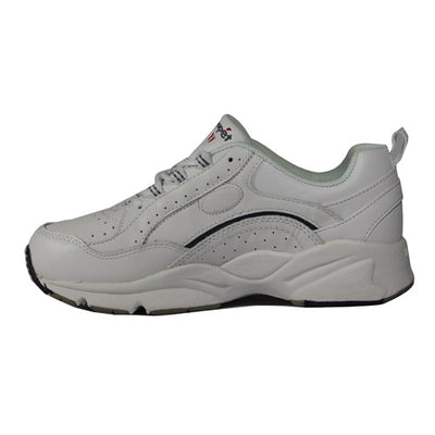 Propet Laced Trainer - Ped 8 - White/ Grey