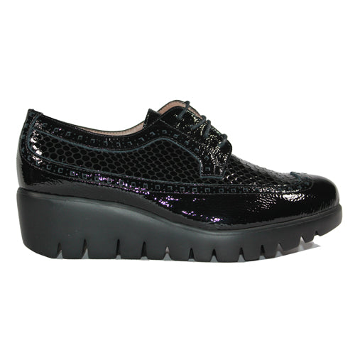 Wonders Wedge Brogues - C33227 - Black