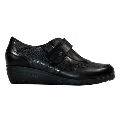 Pitillos Low Wedge Shoes - 2122 - Black