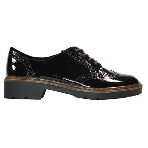 Ara Ladies Brogue - 16502-81  - Black Patent